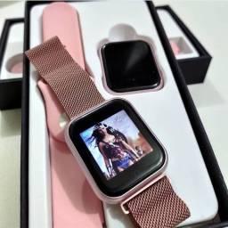 Relógio smartwatch t80 pro Rose