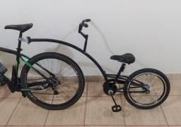 Bike Reboque Aro 20 Para Criança
