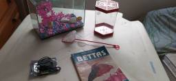 Kit Aquario Peixe Beta