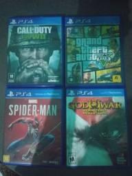 Vendo esses 4 jogos de ps4