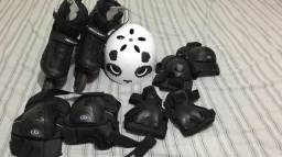 Patins Traxart Inline Traxion 37 + Capacete G + Protetores G