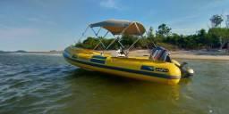 Barco Zefir Inflavel 14 Pés c/Motor 40 HP