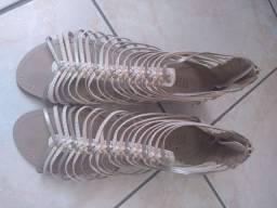 Linda sandália para usar no reveillon tamanho 37