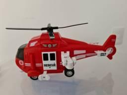 Helicoptero de resgate com som e luz