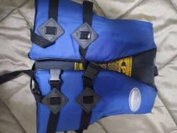 Colete salva vidas, homologado, infantil tamanho p,35 kg