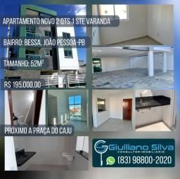 Apartamento Bessa Novo 2 Qts 1 Ste Varanda 52m Próx a Praça do Cajú