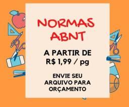 Formatação Normas ABNT a partir de R$ 1,99 a página