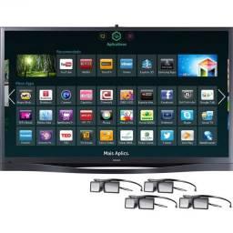 """Smart TV 64"""" 3D FullHD 600hz Samsung PL64F8500 Novinha, na caixa! Parcelo de 6x"""