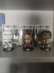 3 funko pops originais Star wars
