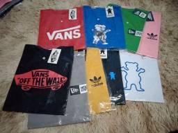 Título do anúncio: Kit 10 Camisetas Streetwear Vários Tamanhos e Modelos Atacado