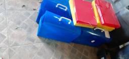 Pastas plasticas e arquivos maleta plastica