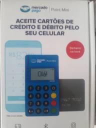MINI POINT VIA BLUETOOTH,ACEITA CARTÃO  POR APROXIMAÇÃO...