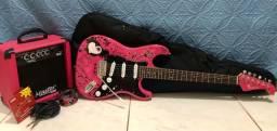 Guitarra - Marca: EAGLE. + Amplificador de som - Marca: Master Áudio