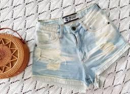 Título do anúncio: Short Jeans Marrom Rasgado