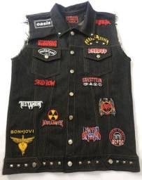 Título do anúncio: Colete Rock Jeans Bordado Personalizado