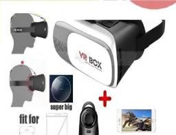 Vr Box Realidade Virtual 3d Android Com Controle