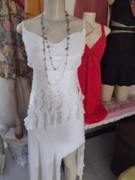 Título do anúncio: Vendo lindo vestido longo $100,00