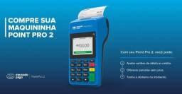 Maquineta de cartão lançamento point pro2 imprime