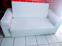 Sofá  cama Couro branco