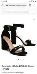 Título do anúncio: Sandália média RCHLO shoes preto 37