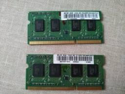 Memórias RAM Notebook (DDR3 e DDR2) - leia a descrição