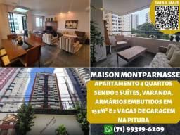 Título do anúncio: Maison Montparnasse, 4 quartos sendo 2 suítes e 2 vagas na garagem na Pituba