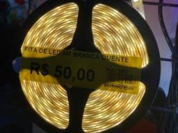 Título do anúncio: Liquidação fita led 5 metros cor branca quente nova por 50 R$ o rolo