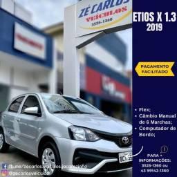 Título do anúncio: Toyota Etios HB X 1.3 2018/2019