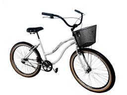 bicicleta aro 26 adulto com cesta , aero, cubos rolamento, freios alumínio