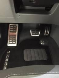 Kit Pedaleiras VW Nivus Polo T-Cross Virtus com descanso de pé adaptado