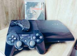 Título do anúncio: Videogame PS3 250 GB Super Slim - Completo e novo - Playstation 3