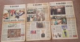 Título do anúncio: Jornal O Globo - A Morte de Ayrton Senna, Collor está fora do poder  e outros