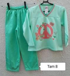 Pijama peluciado quentinho NOVO Tam 8