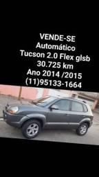 VENDE-SE<br>Automático <br>Tucson 2.0 Flex glsb <br>30.725 km<br>Ano 2014 /2015<br> *