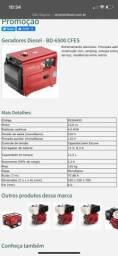 Título do anúncio: Gerador Branco BD 6500 ES Silencioso Monofásico Part. Elétrica (a Diesel)