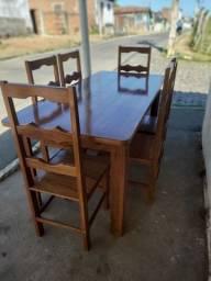 Título do anúncio: Mesa com 6 cadeiras em Jatobá