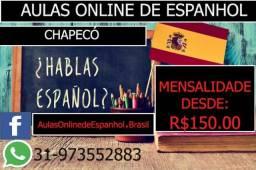 Aulas online de espanhol - R$150.00 Mensalista- Promoção - Chapecó