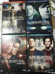 Box sobrenatural temporadas 1,2,3 e 4 quase novos