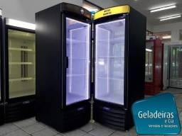 Geladeira Expositora - Adesivada De Preto Fosco + Led