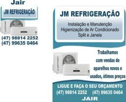 Instalação manutenção igienização de ar condicionado split e janela
