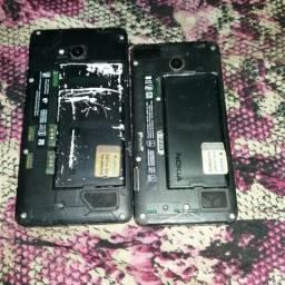 Vendo estes celulares para conserto ou retiradas de peças.