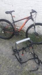 Bike aro 29 + suporte de carro para bicicleta