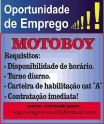 Vaga para motorista Moto boy