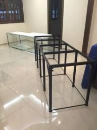 Base em metalon para aquário estrutura sob medida