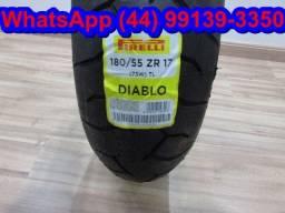 Pneu Pirelli Diablo Hornet/Srad/CBR/R1/CB1000 180/55-17 - NOVO - Queima de estoque