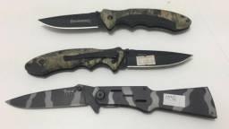 Kit Com 2 Canivetes Browning 2 E 1 Canivete Fury Camuflada