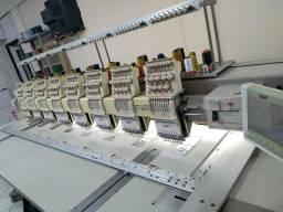 Máquina de bordado SWF 8 cabeças