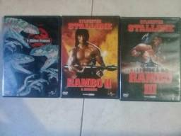 Kit de Dvd's Rambo Vol. 2,3 e O mundo perdido ORIGINAIS