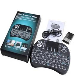 Mini Keyboard Wireless Luz Led