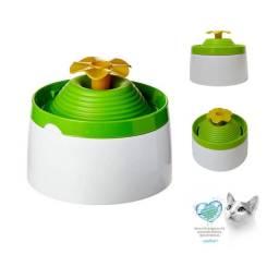 Fonte Bebedouro Com Filtro Gatos e Cães Flower Água Corrente para Filhotes e Adultos